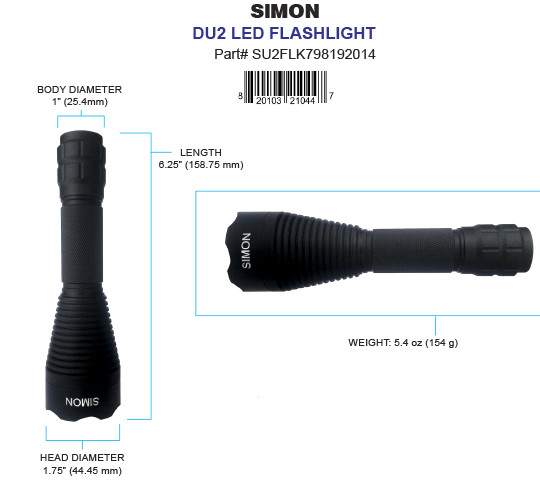 Simon Brightest Tactical LED Flashlight