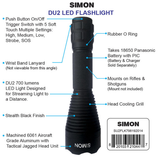 Simon Cree DU2 LED Flashlight