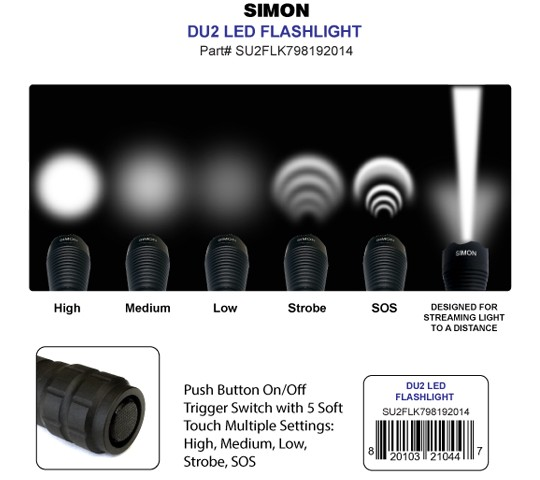 Simon DU2 Light Beam and Modes